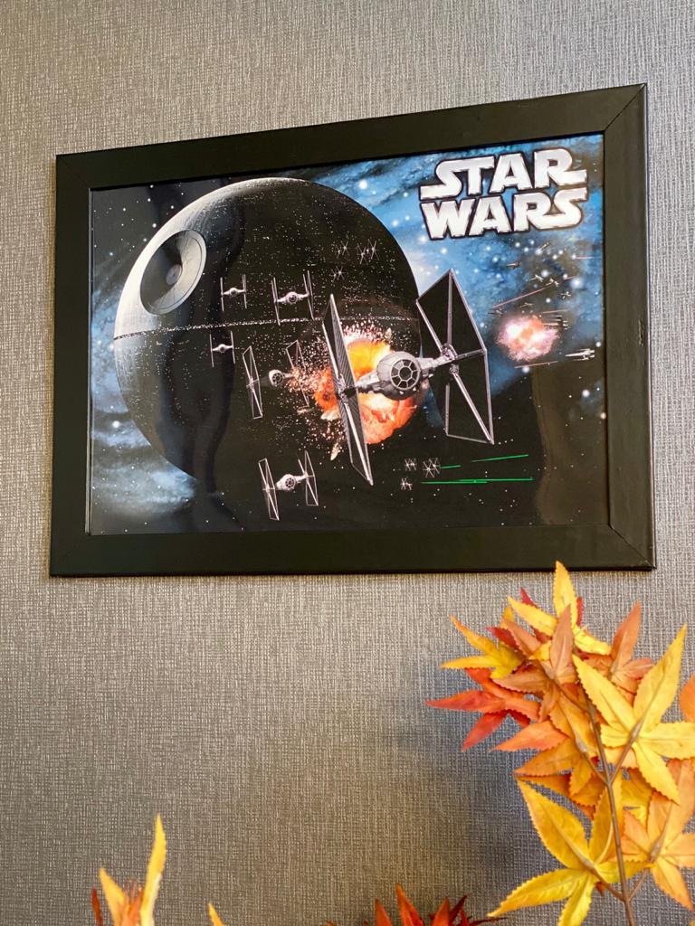 Quadro Com Moldura: Estrela da Morte ( Star Wars) - 46x33 - EV