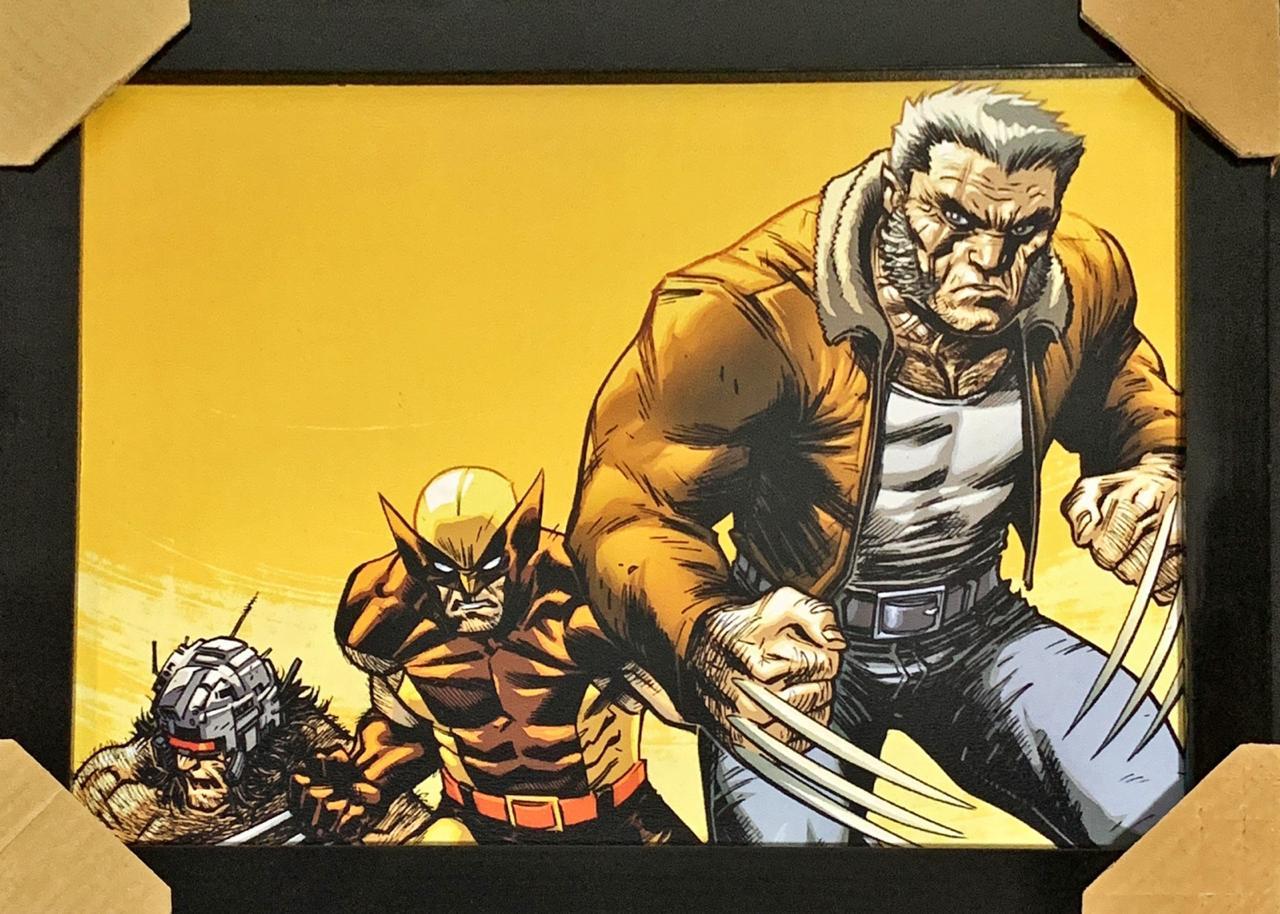 Quadro com Moldura Evolução Wolverine: Marvel Comics  - Toyshow Geek e Colecionáveis Tudo em Marvel DC Netflix Vídeo Games