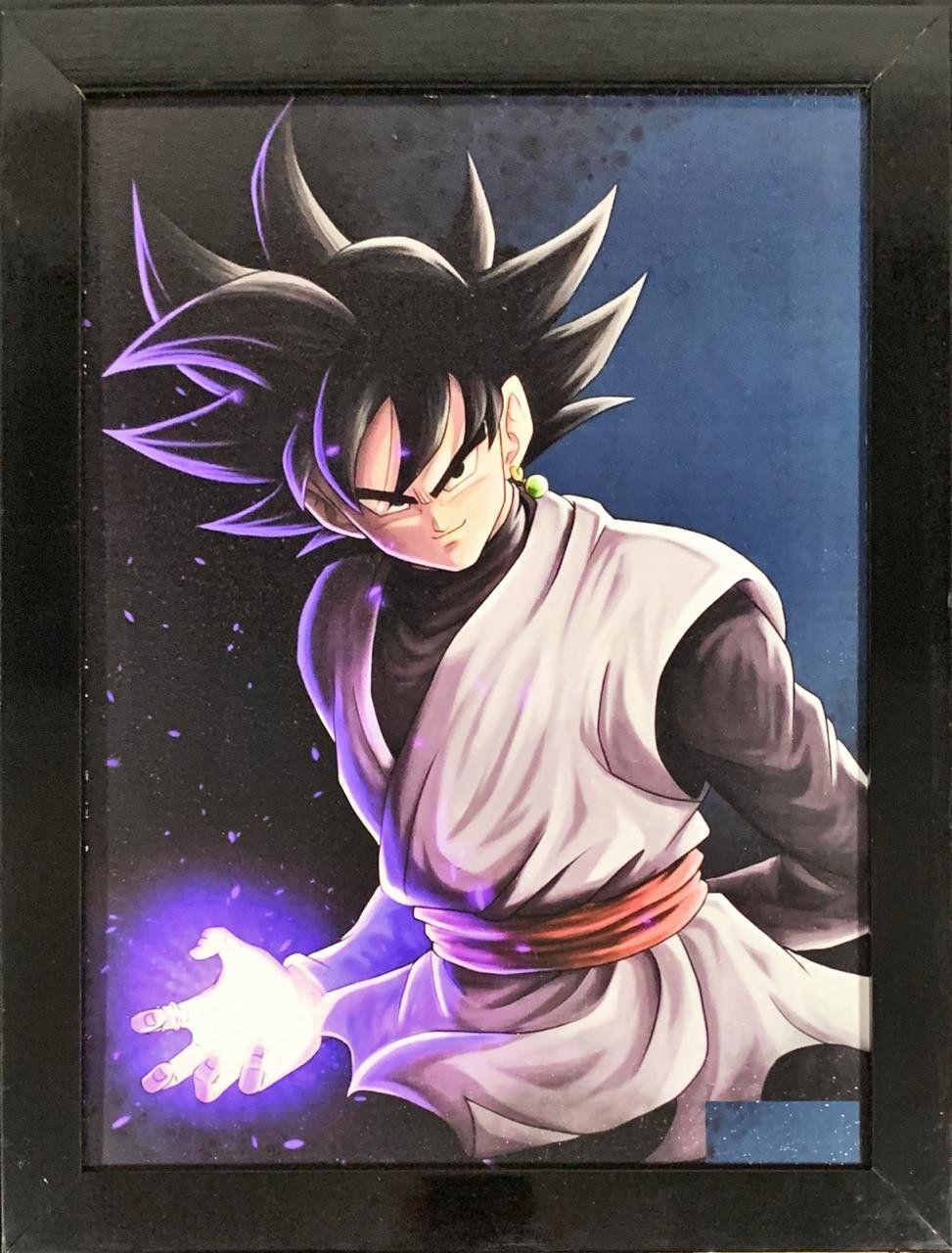 Quadro com Moldura Goku Black: Dragon Ball Z