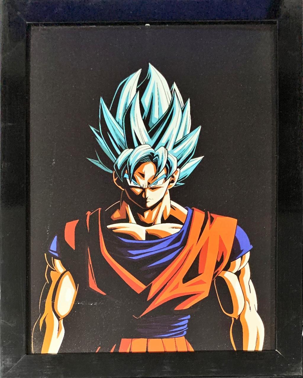 Quadro com Moldura Goku Blue: Dragon Ball Super