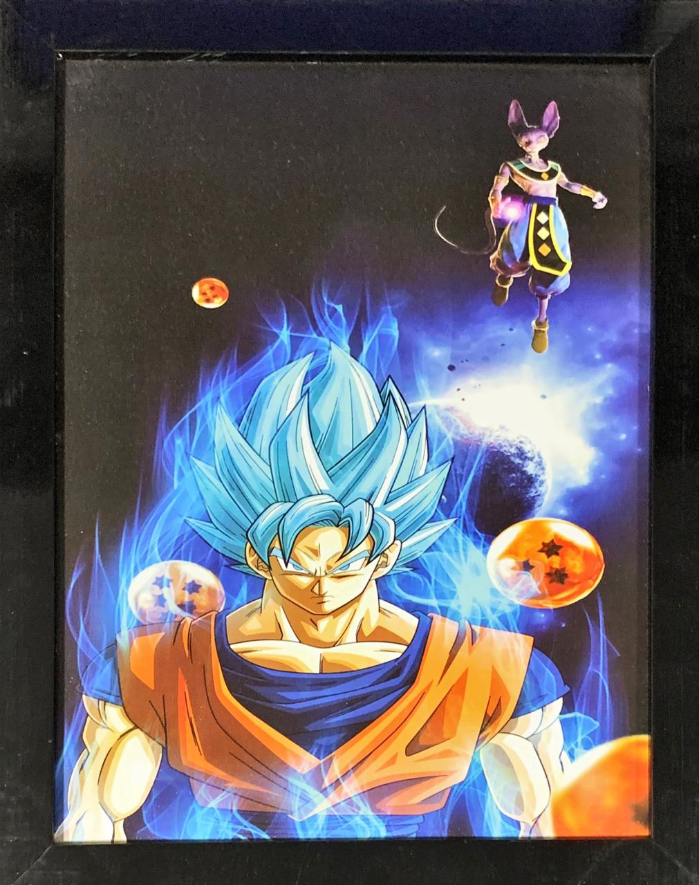 Quadro com Moldura Goku Blue Vs Bills: Dragon Ball Super