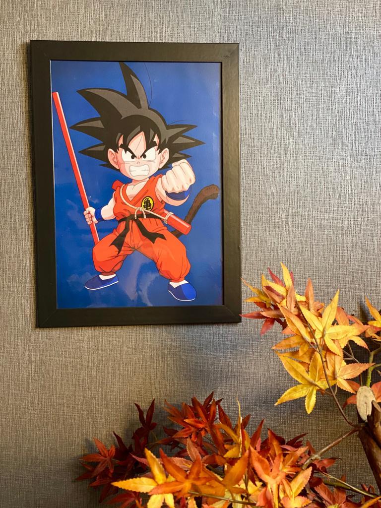 Quadro Com Moldura: Goku Criança ( Dragon Ball ) - 46x33