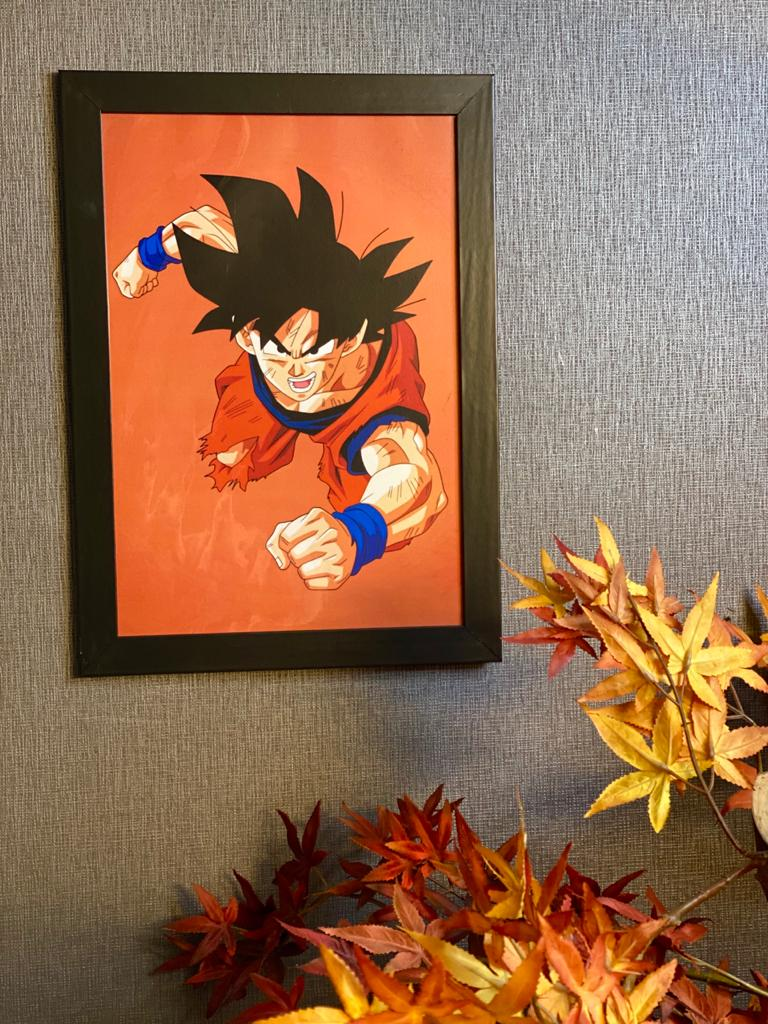 Quadro Com Moldura: Goku ( Dragon Ball ) - 46x33