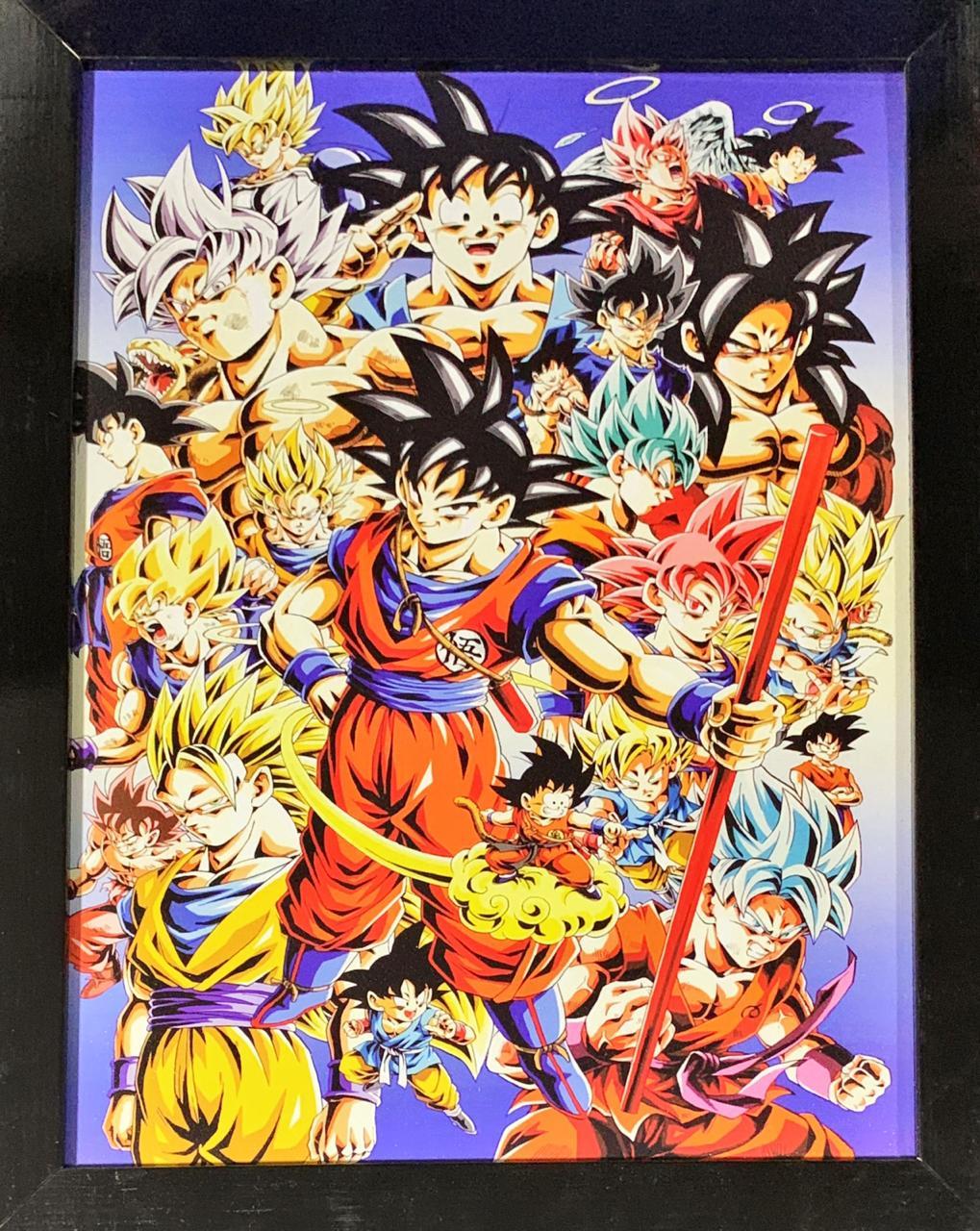 Quadro com Moldura Goku: Dragon Ball Z