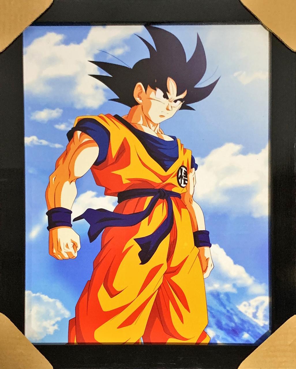 Quadro com Moldura Goku: Dragon Ball Z (Moldura Preta)