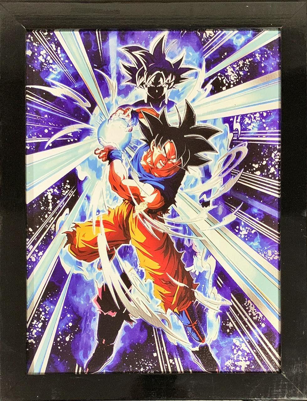 Quadro com Moldura Goku (Kamehameha): Dragon Ball Z