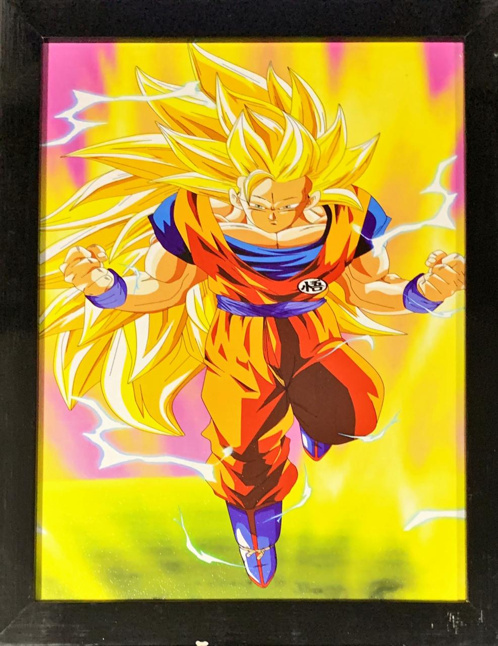 Quadro com Moldura Goku Super Saiyajin 3: Dragon Ball Super