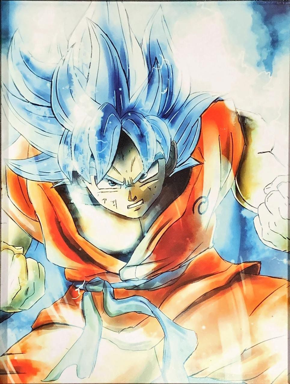 Quadro com Moldura Goku Super Saiyajin Blue: Dragon Ball Z