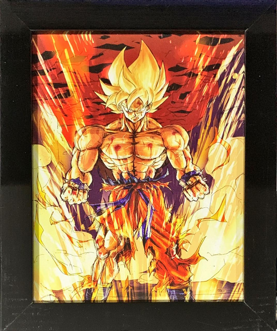Quadro com Moldura Goku Super Saiyajin: Dragon Ball Z - 24x29
