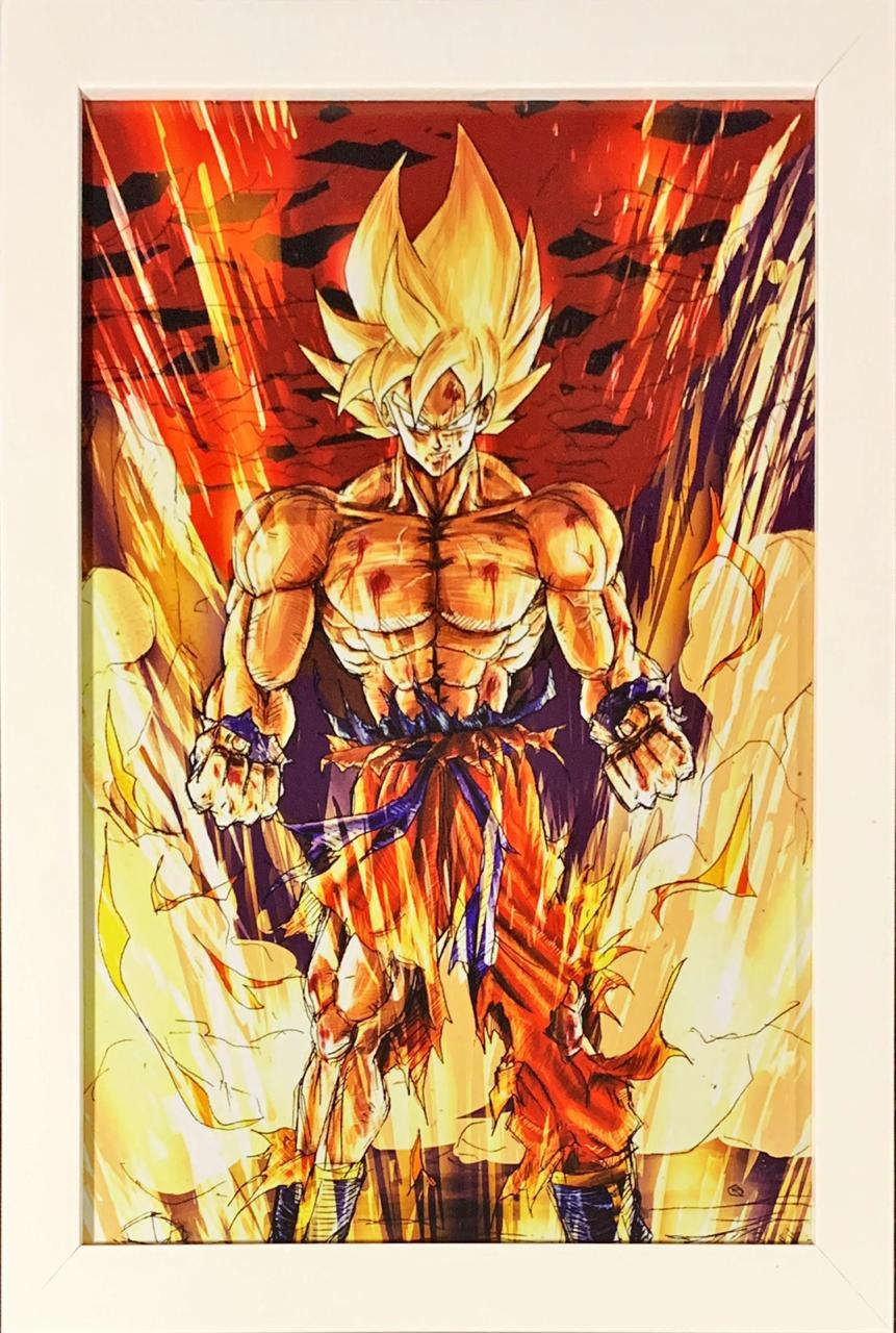 Quadro com Moldura Goku Super Saiyajin: Dragon Ball Z