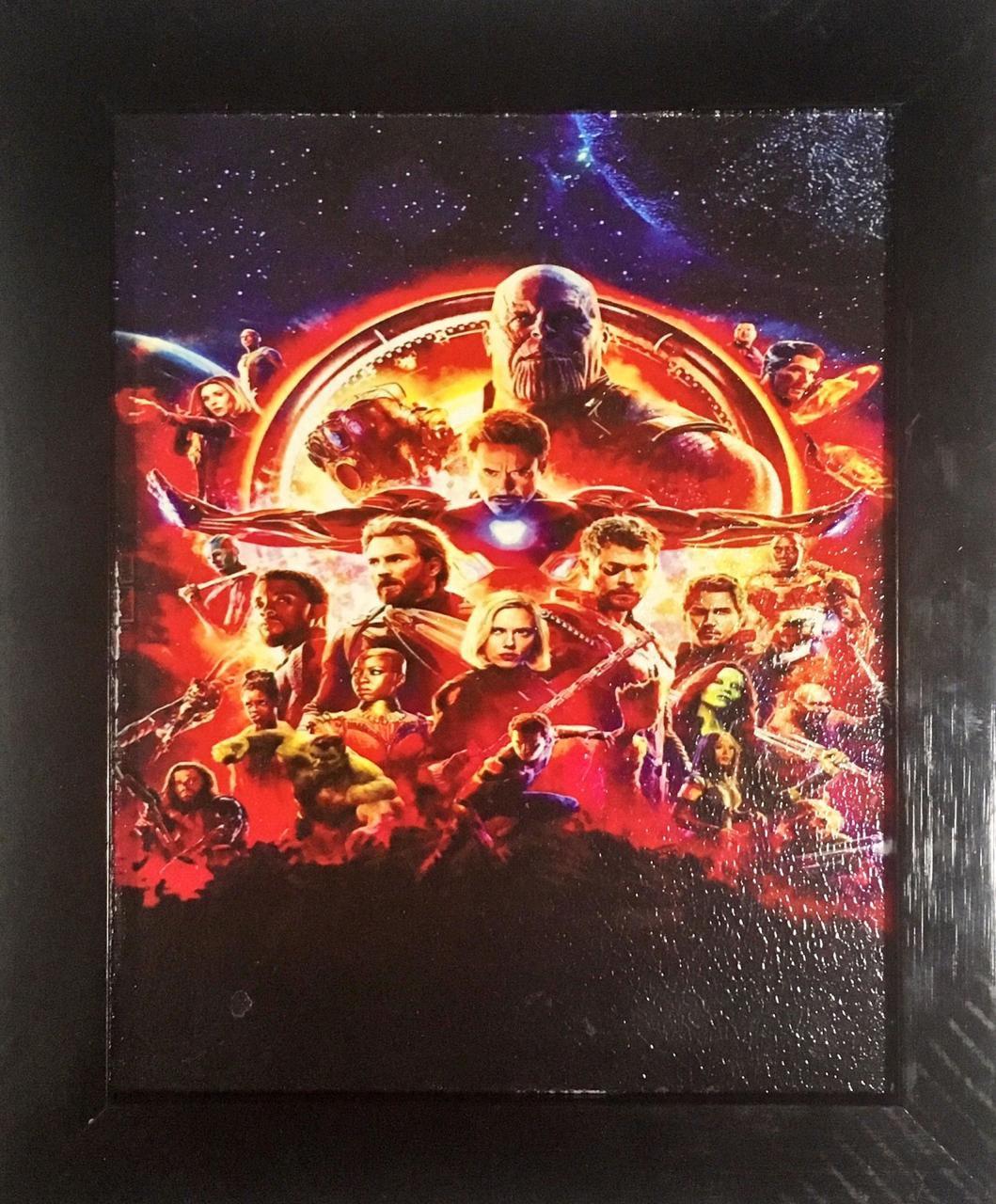 Quadro com Moldura: Guerra Infinita (Avengers: Infinity War) - Personagens - 24x29