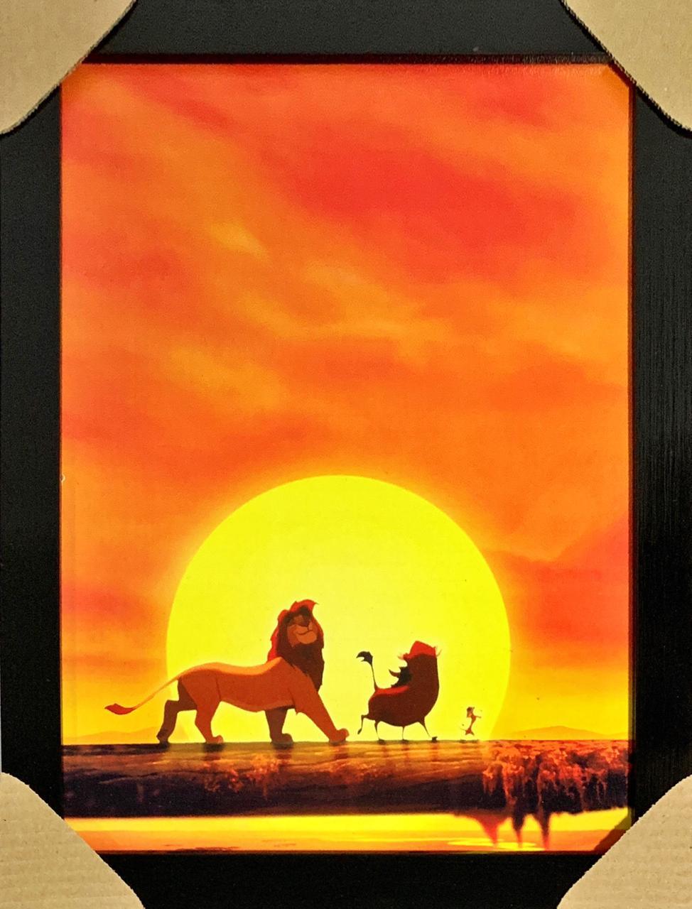 Quadro com Moldura Hakuna Matata: O Rei Leão (The Lion King)