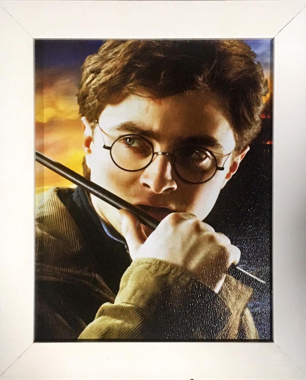 Quadro com Moldura: Harry Potter (Branco) - 24x29