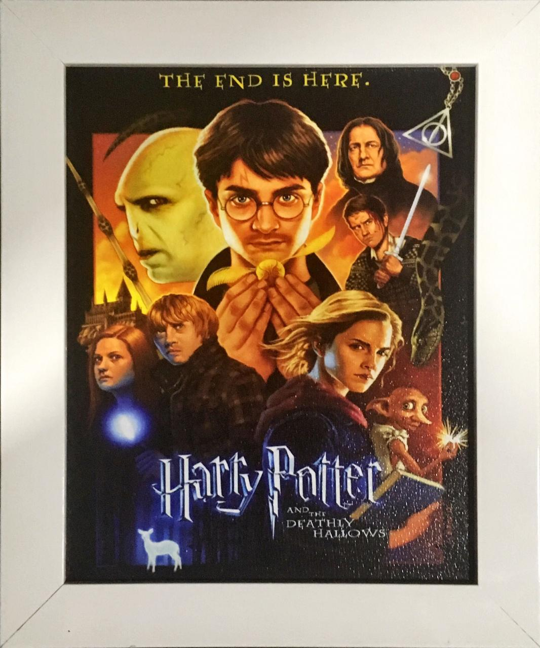Quadro com Moldura: Harry Potter (Harry Potter and the Deathly Hallows) - 24x29