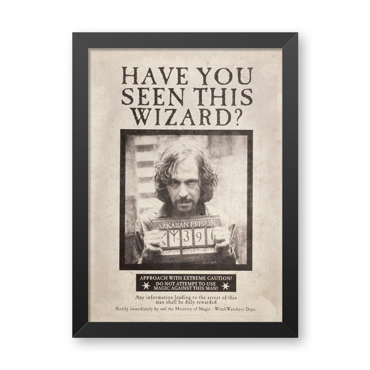 "Quadro Com Moldura: ""Have You Seen This Wizard?""  (Harry Potter)  - 46x33"