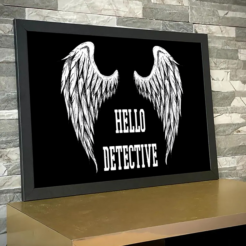 Quadro Com Moldura Hello Detective The Devil Lucifer Morningstar Netflix - 33x46 - EV