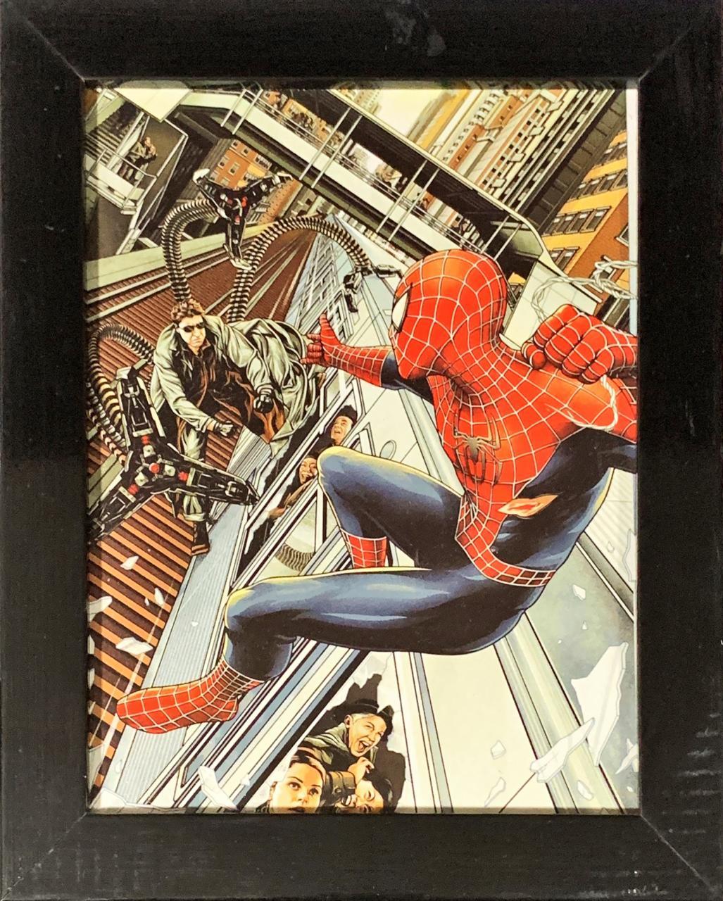 Quadro com Moldura Homem-Aranha e Doutor Octopus: Homem-Aranha 2 (24x29)