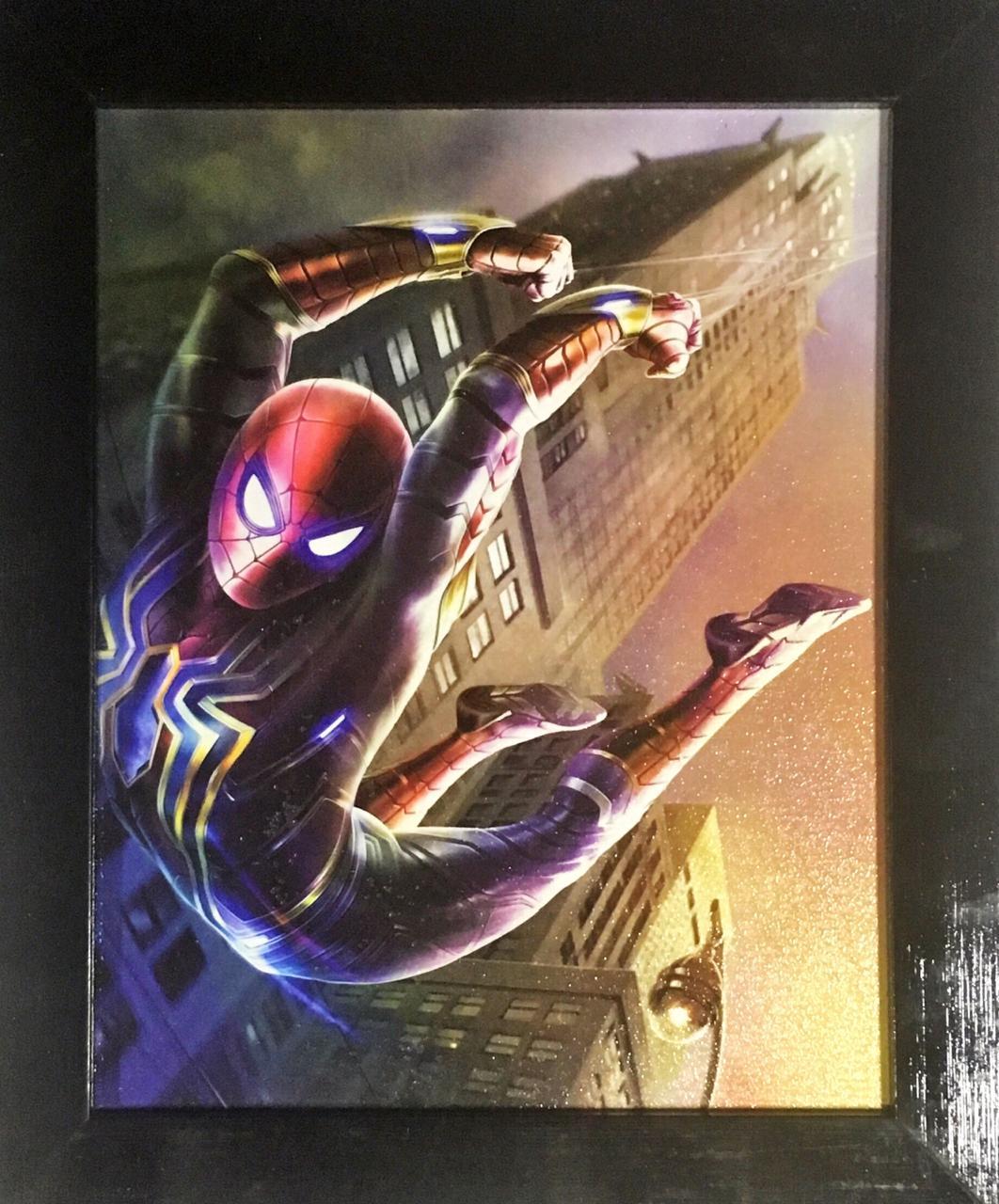 Quadro com Moldura: Homem-Aranha (Iron Spider): Vingadores Guerra Infinita - (24x29)