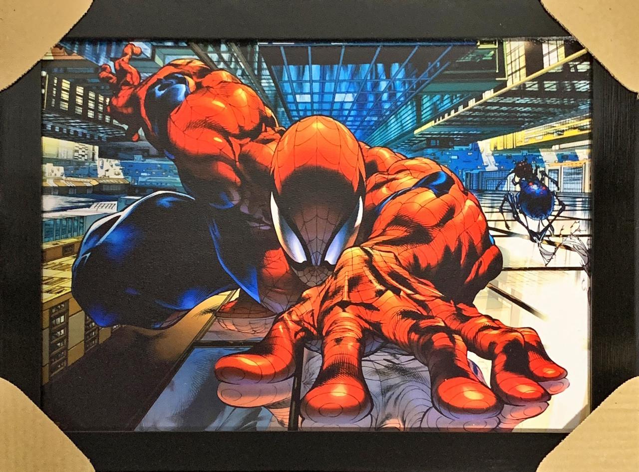 Quadro com Moldura Homem-Aranha: Marvel Comics