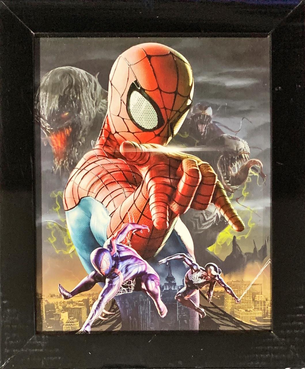 Quadro com Moldura Homem-Aranha Multiverso: Marvel Comics - 24x29