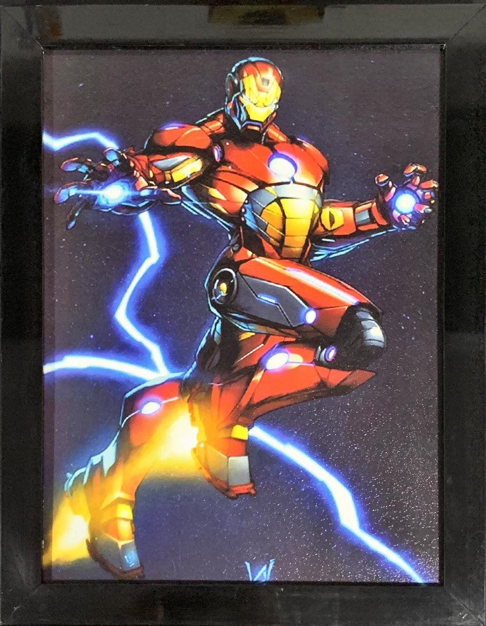 Quadro com Moldura Homem de Ferro (Blind Edge) 24x29: Marvel
