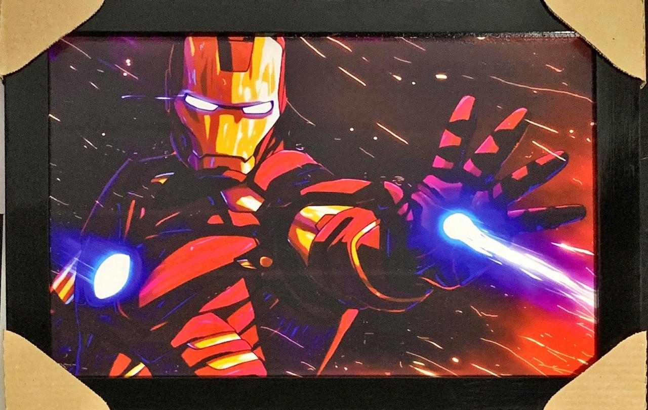 Quadro com Moldura Homem de Ferro (Iron Man): Marvel