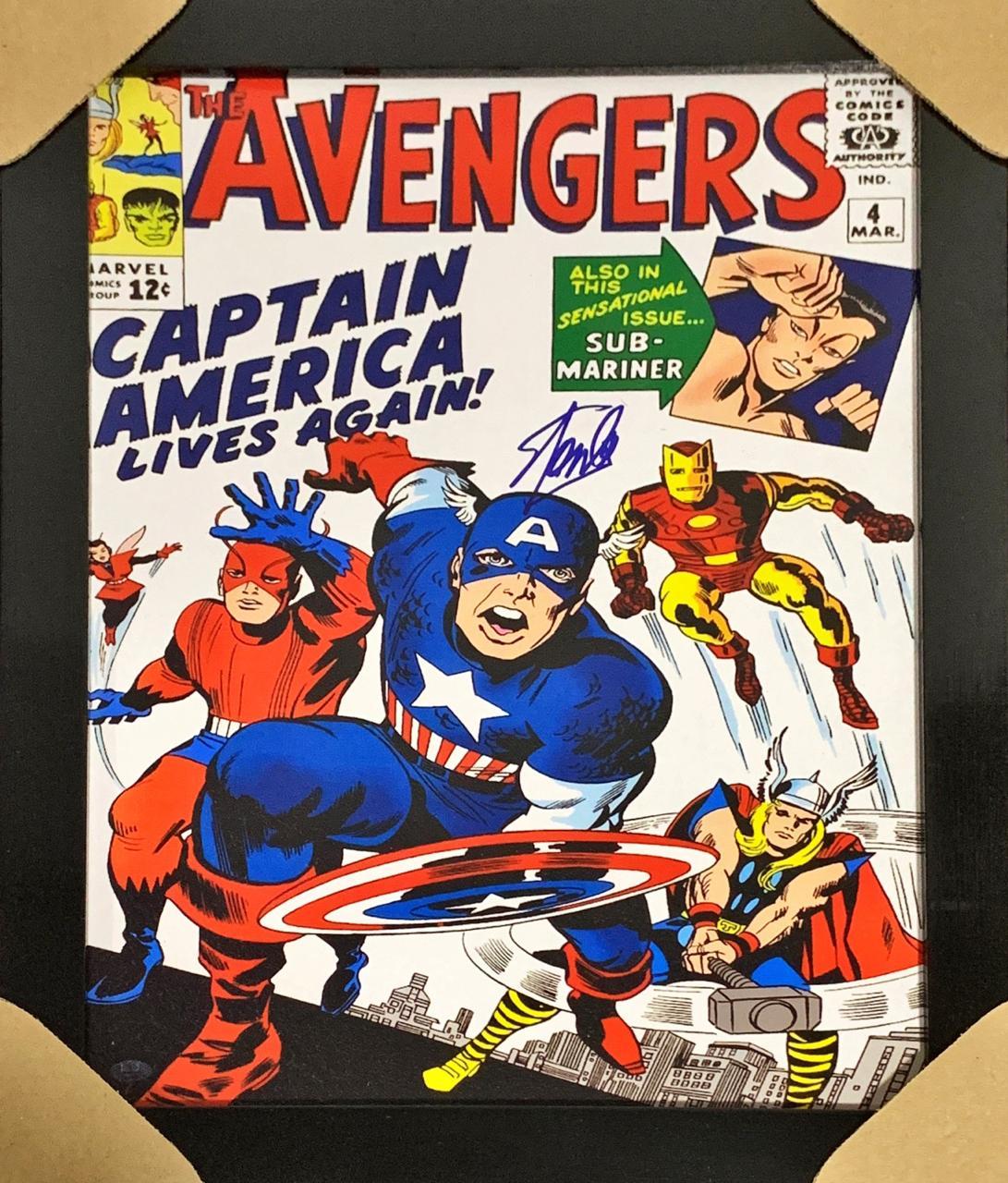 Quadro com Moldura HQ Vingadores Clássico: Marvel Comics