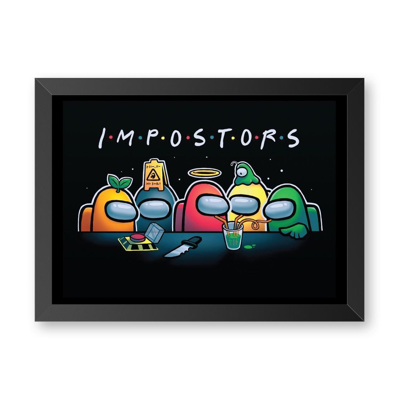 Quadro Com Moldura Impostor: Among Us - 46x33 - EV