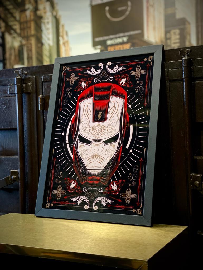 """Quadro Com Moldura: """"Iron Man"""": Homem de Ferro - 46x33"""