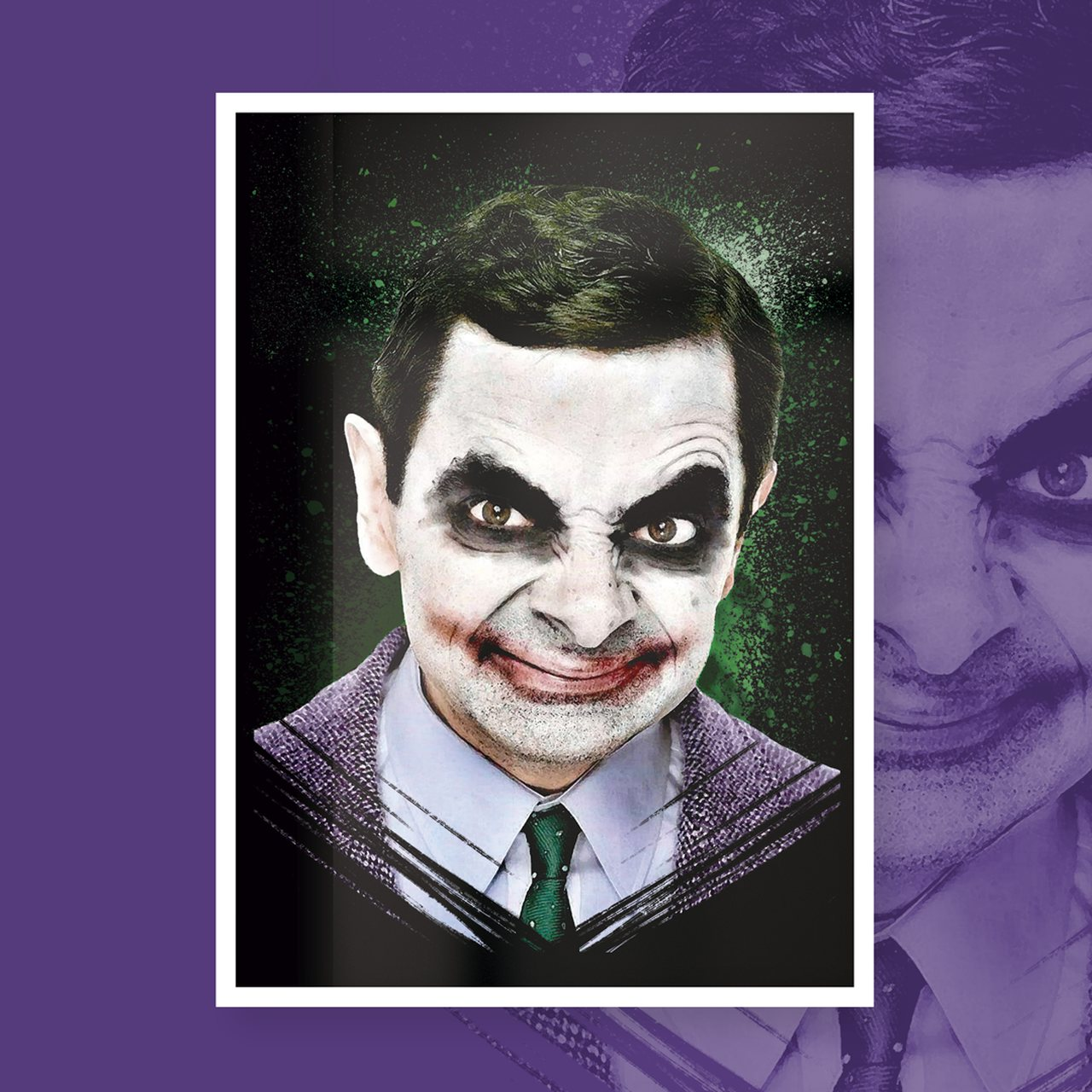 Quadro Com Moldura JokerBean - 46x33  - Toyshow Geek e Colecionáveis Tudo em Marvel DC Netflix Vídeo Games
