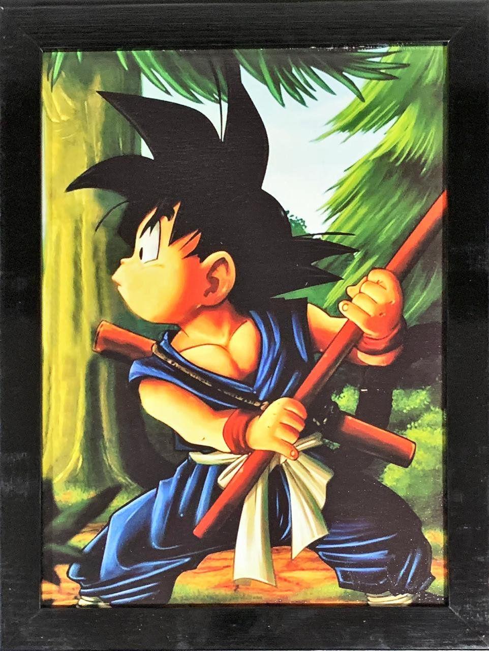 Quadro com Moldura Kid Goku: Dragon Ball Z