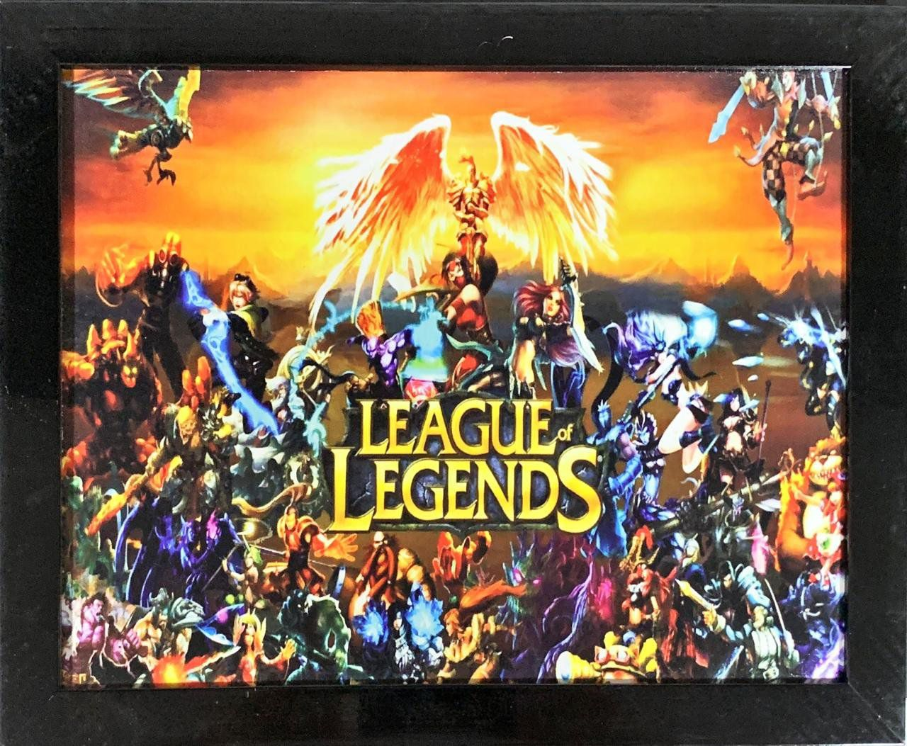 Quadro com Moldura League of Legends