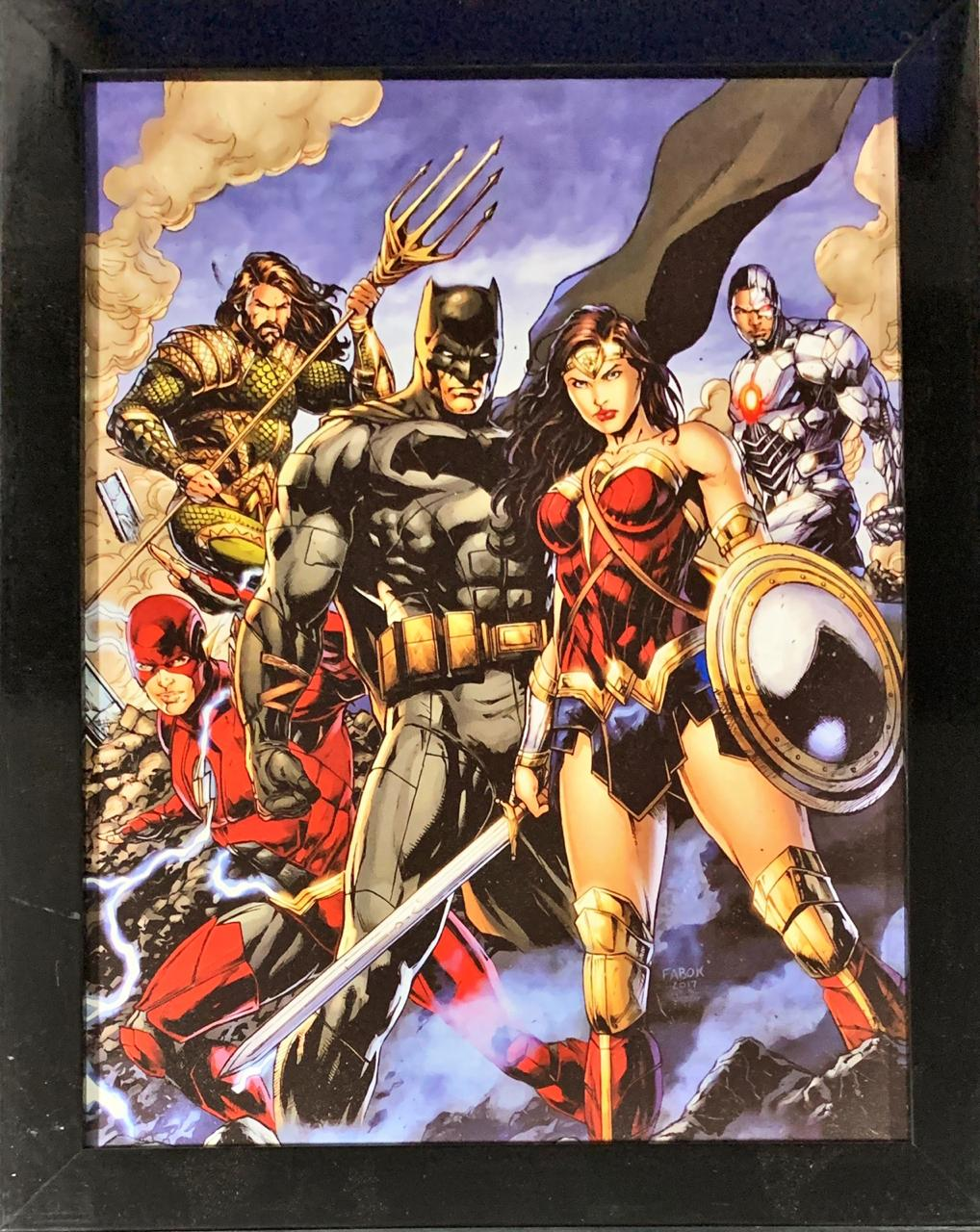 Quadro com Moldura Liga da Justiça (Justice League)