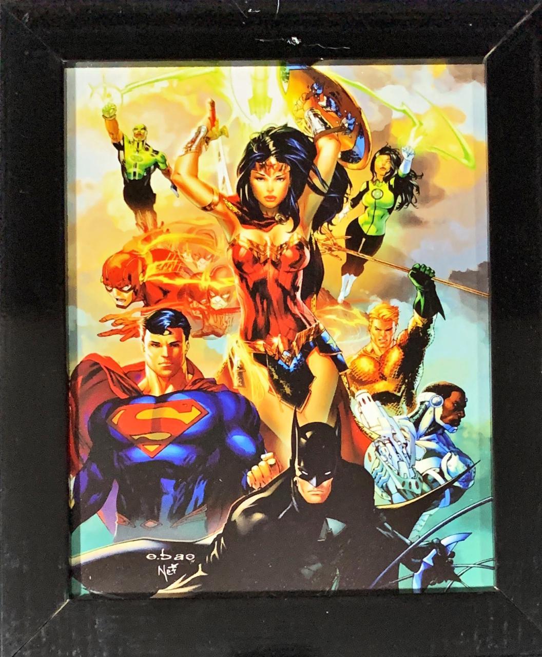 Quadro com Moldura Liga da Justiça (Justice League): DC Comics - 24x29