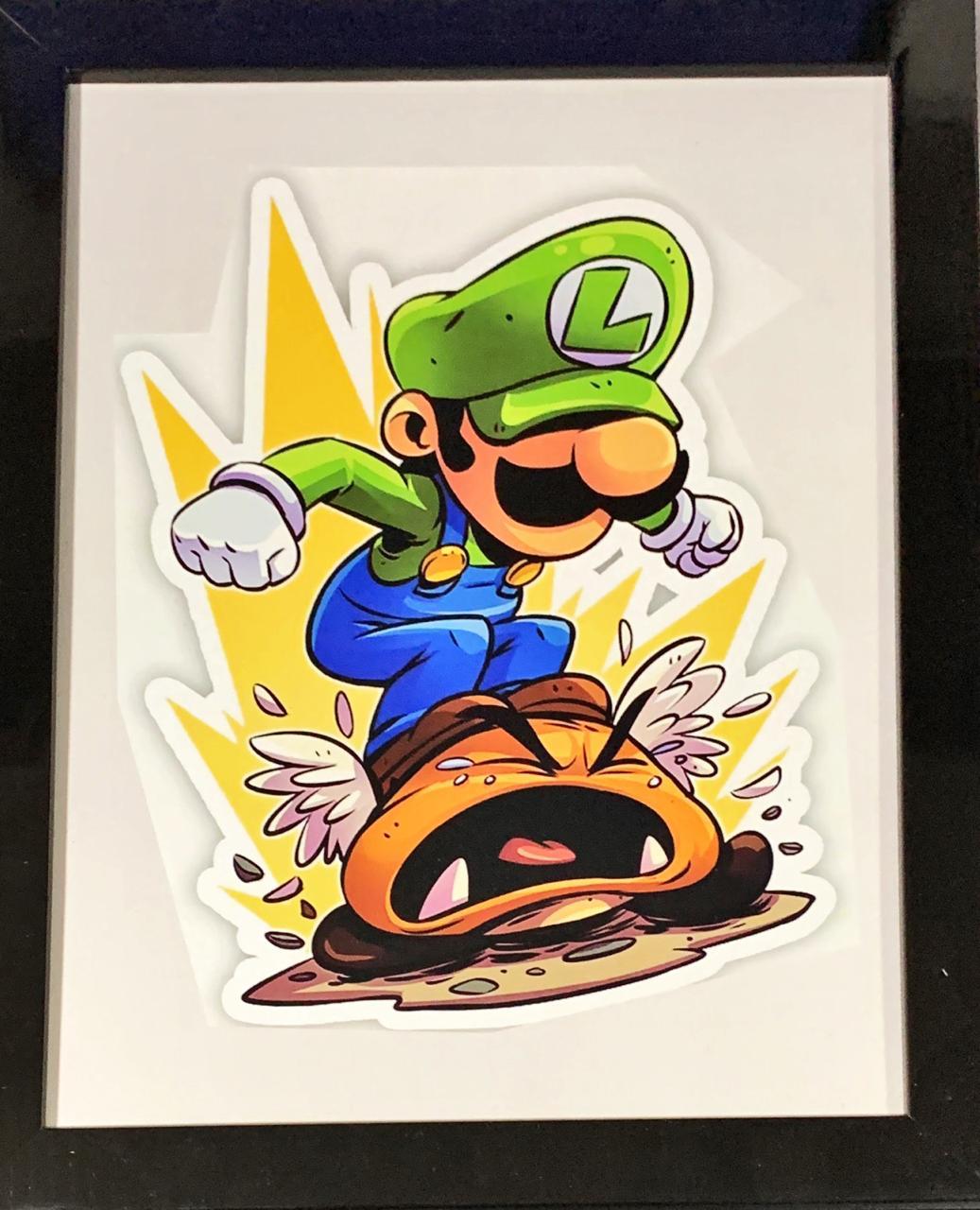 Quadro com Moldura Luigi: Super Mario Bros