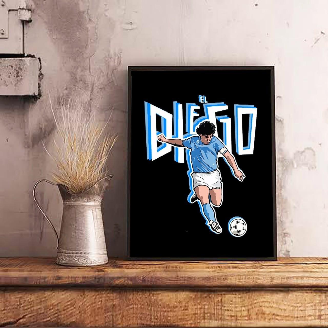 Quadro Com Moldura: Maradona El Diego - 46x33 - EV