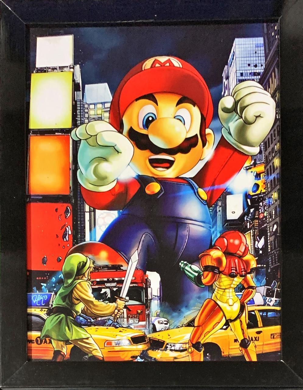 Quadro com Moldura Mario Gigante: Nintendo