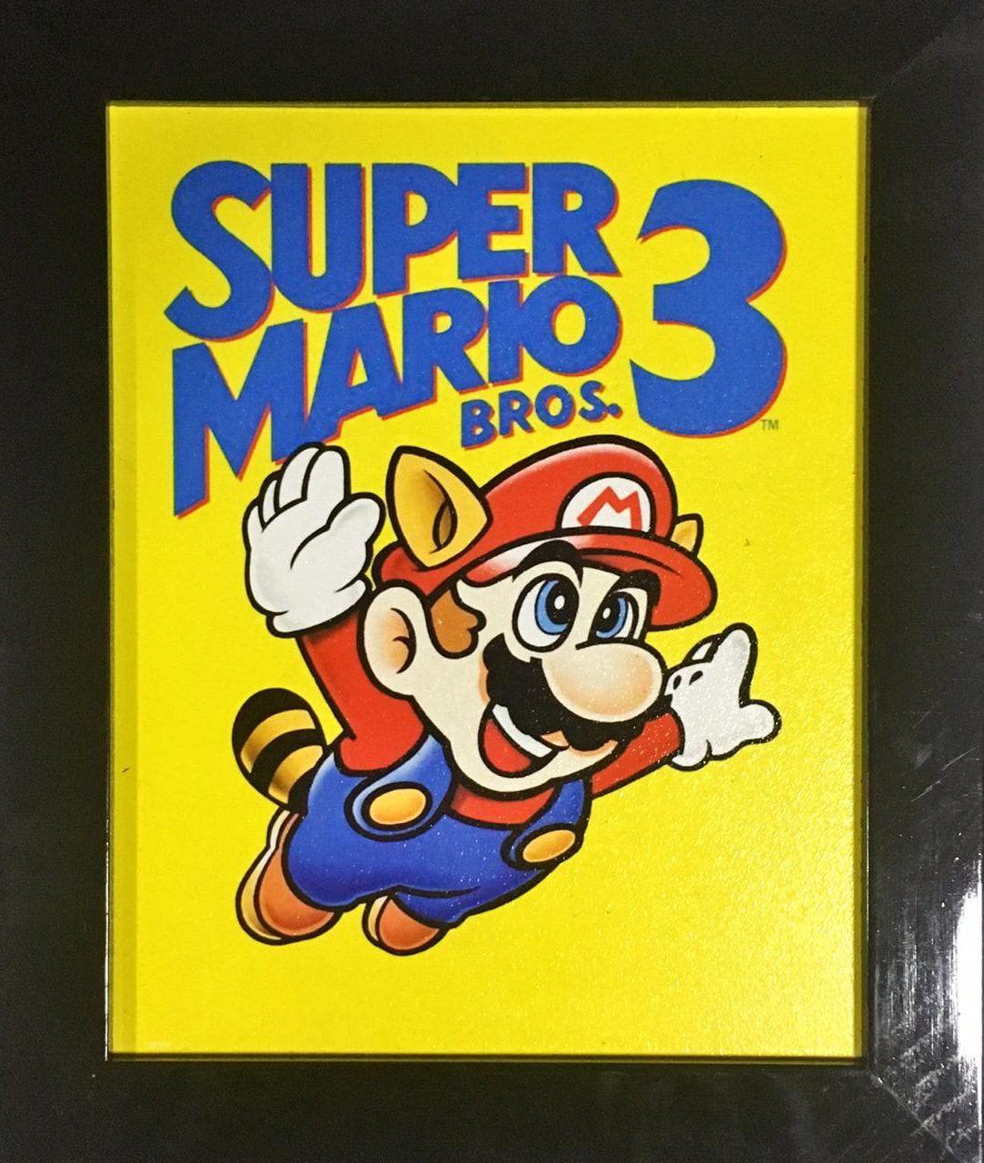 Quadro com Moldura Mario: Super Mario Bros 3 - 24x29