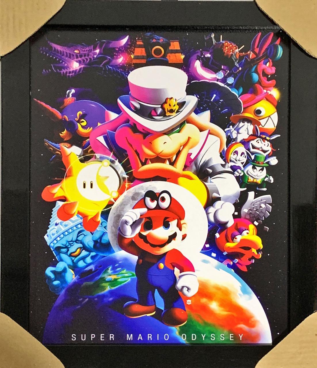 Quadro com Moldura Mario: Super Mario Odyssey