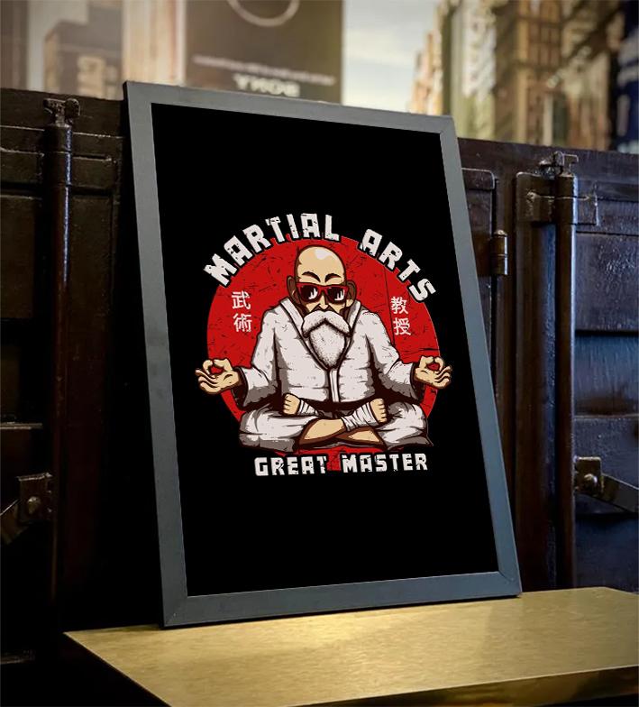 Quadro Com Moldura Martial Arts Great Master Mestre Kami: Dragon Ball - 46x33 - EV