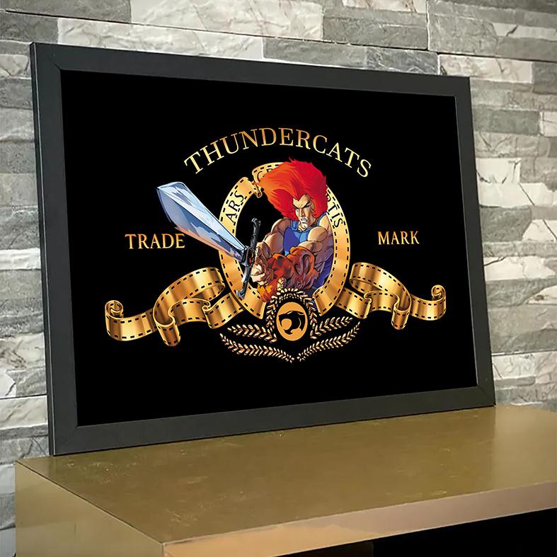 Quadro Com Moldura Metro Goldwyn Mayer Lion Thundercats Espada Justiceira - 33x46 - EV