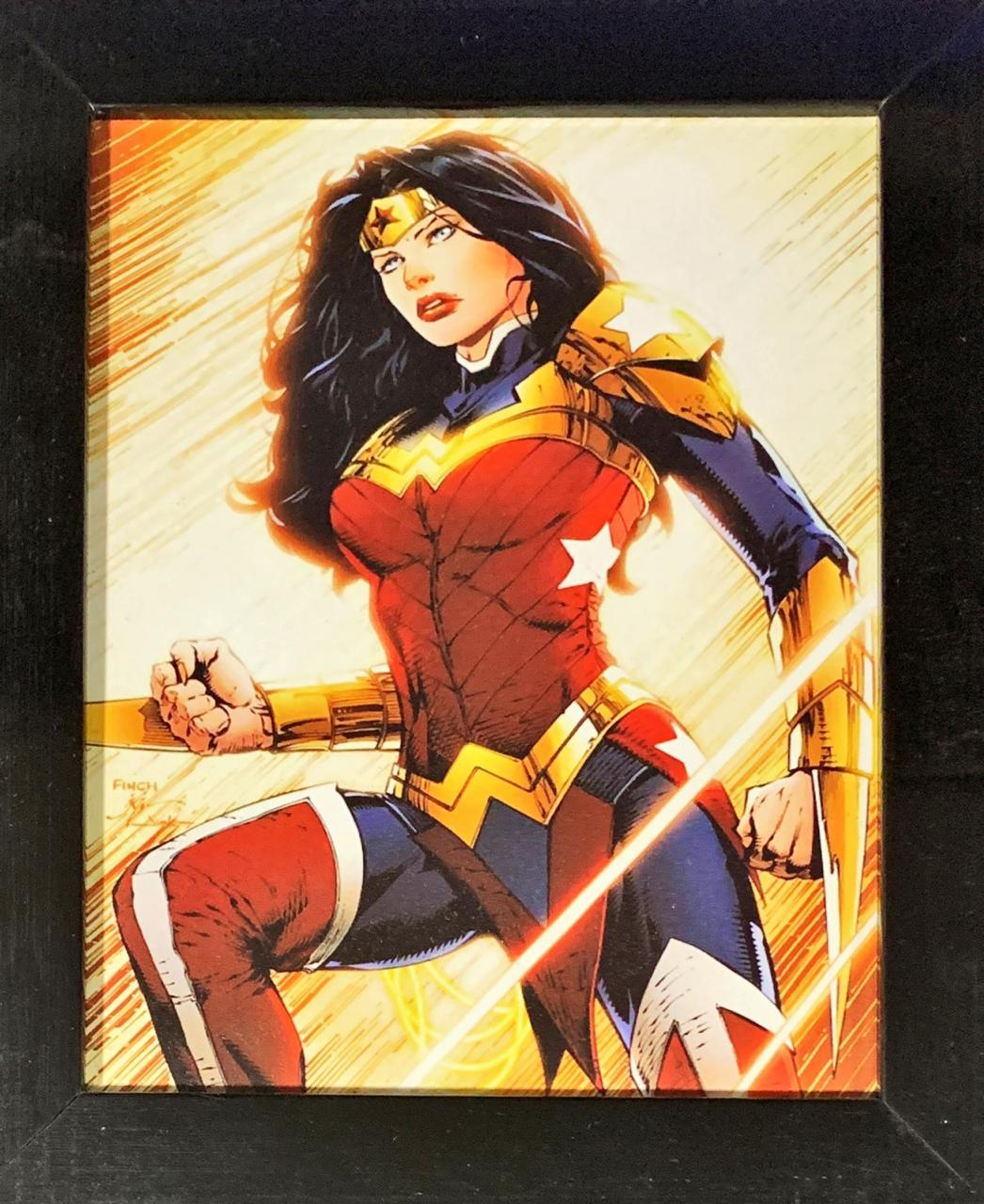 Quadro com Moldura Mulher-Maravilha: DC Comics (24x29)