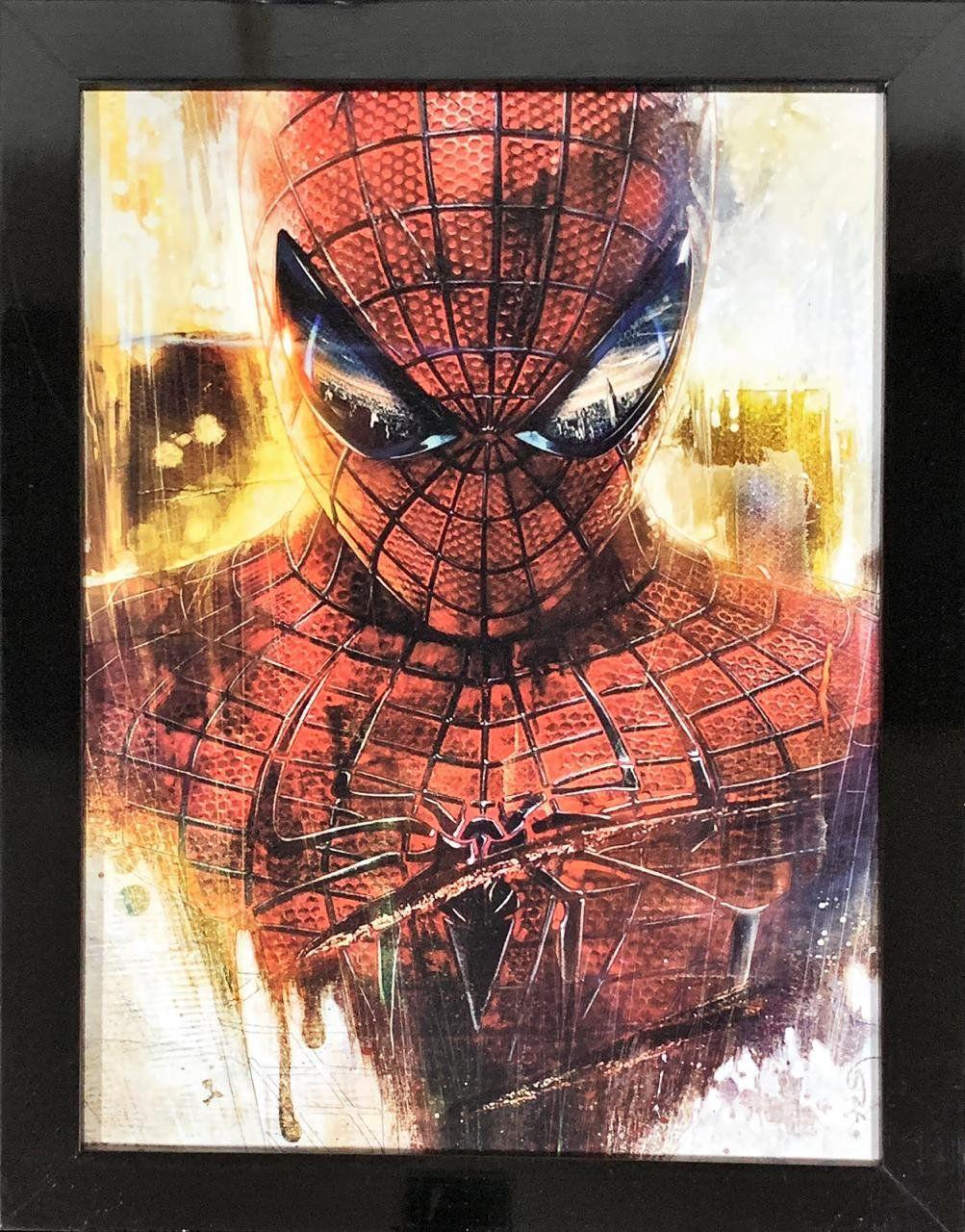 Quadro com Moldura O Espetacular Homem-Aranha: Marvel - 46x33 - EV