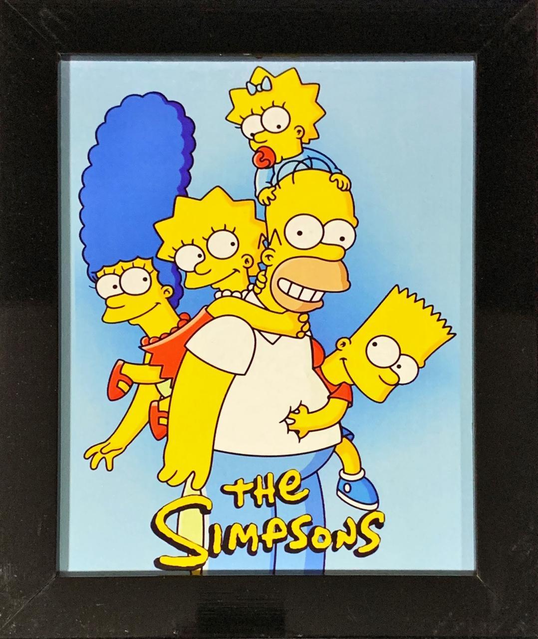Quadro com Moldura Os Simpsons (Família) 24x29