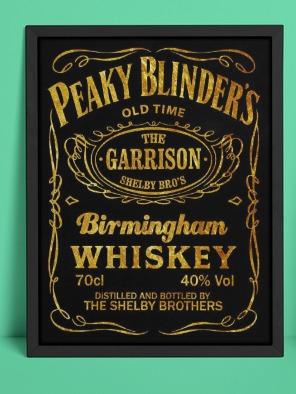 Quadro Com Moldura Peaky Blinder's Whiskey