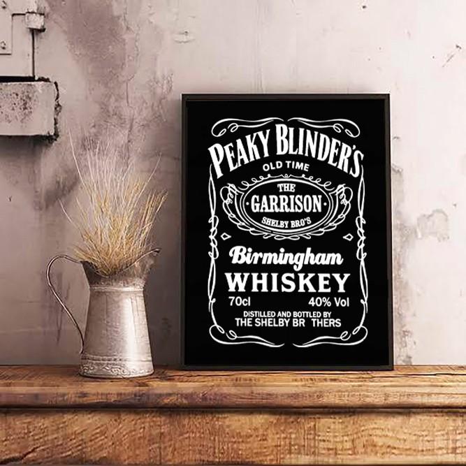Quadro Com Moldura Peaky Blinders x Jack Daniels 46x33cm - EV