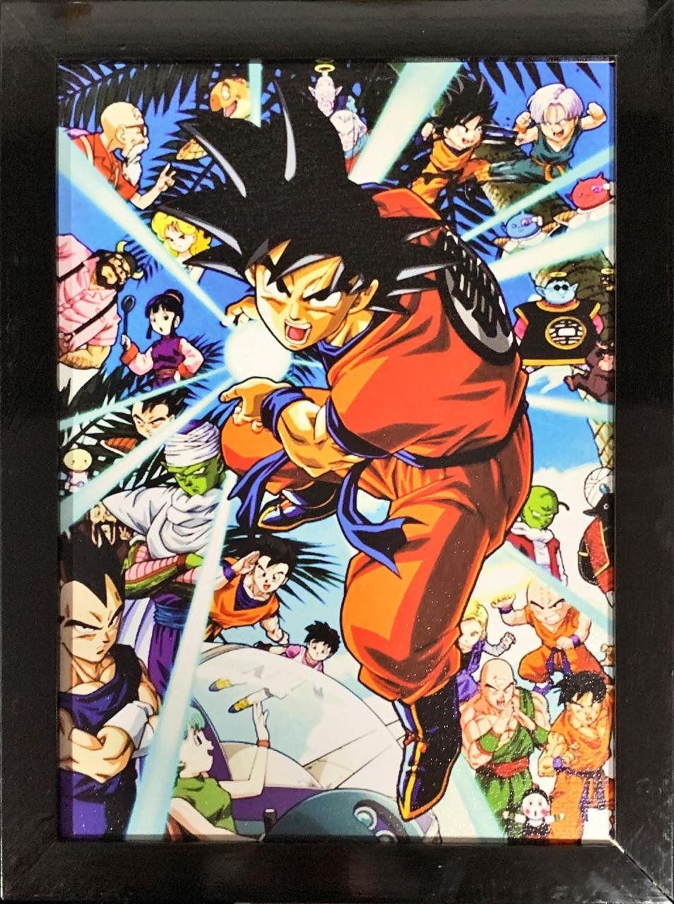 Quadro com Moldura Personagens: Dragon Ball Super