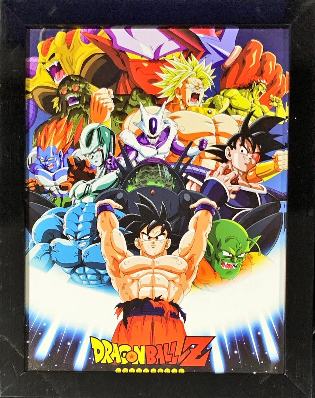 Quadro com Moldura Personagens Dragon Ball Z 46x36
