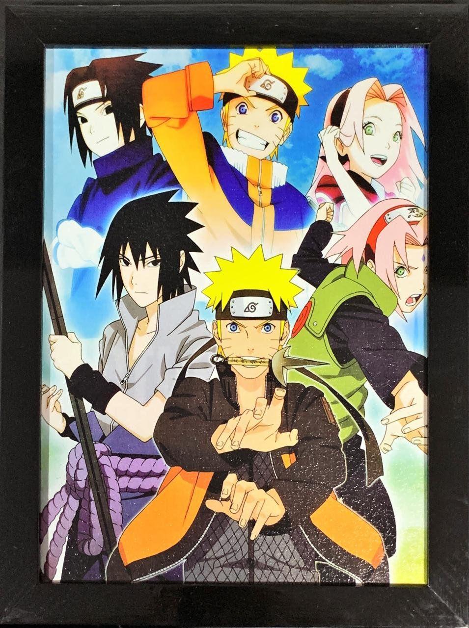 Quadro com Moldura Personagens: Naruto