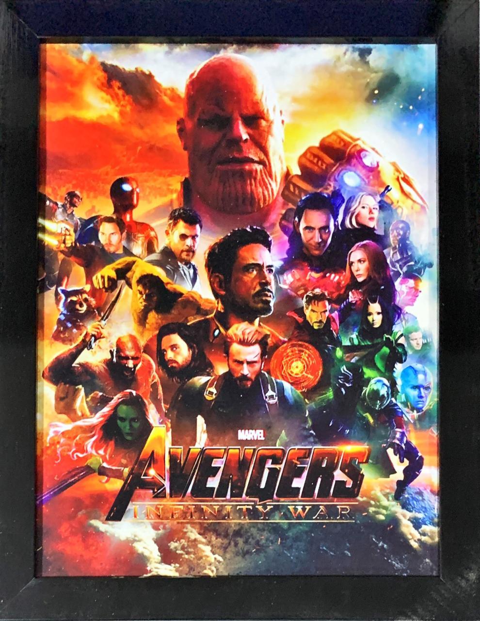 Quadro com Moldura Personagens Vingadores (Avengers): Guerra Infinita (Infinity War)